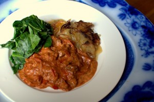 Goulash - Served with Boulanger Potatoes and Steamed Greens